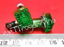2pz x lampada spia 220V neon rettangolare verde