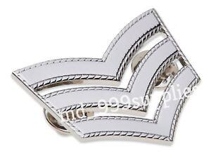 Police Sergeant Stripes  Chevrons METAL Roped Edge Epaulettes Rank Sgt Met Style
