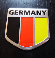 German Tricolour Flag Chrome Effect Badge for Jeep Grand Cherokee Wrangler 4x4