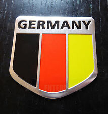 German Germany Tricolour Flag Chrome Effect Badge for Chevrolet Matiz Cruze Aveo