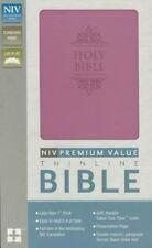 NIV, Value Thinline Bible, Leathersoft, Pink