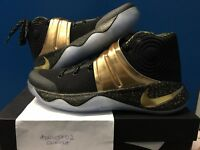 Nike Kyrie 2 game 7 ID 9.5 US black gold GM7 limited qs speckle what the uncle