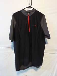 Louis Garneau Epic Cycling Jersey Men's Large Black/Gray Retail $64.99