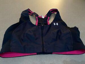 Under Armour UA Hi Impact 2.0 Sports Bra Black/Pink Style 1252160 Size 34C