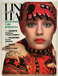 Linea Italiana n. 44 Febbraio 1974 Rivista moda vintage Speciale Maglia Cadette