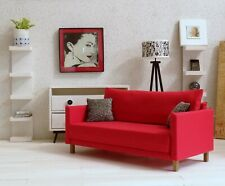 1/6 scale modern doll sofa in Red