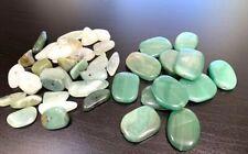 Large Assortment of Green & Multi Jade Colored Gemstones (42) Loose Beads