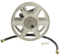 Suncast SWA100 100 Foot Wall Mount Garden Yard Hose Reel Side Winder, Taupe