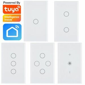 Smart WIFI Light Touch Panel Switch   1,2,3,4 Gang + Dimmer   Tuya SmartLife