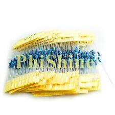 600Pcs 30 Values 1/4W Metal Film Resistors Resistance Assortment Kit Set 1%