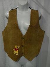Disney Winnie the Pooh Size M/L Snap Front Leather Vest