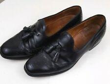 CHURCH'S CUSTOM GRADE Mens Wingtip Brogue Kiltie Tassle Black Leather Shoes 9.5