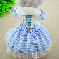 Pet Dog Dress Puppy Lace Skirt Princess Tutu Dress Clothes Apparel Costume XS-XL