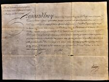 King Louis Xv Autograph For Dragons Regiment Cornet 1735 Rey Luis Xv de Francia