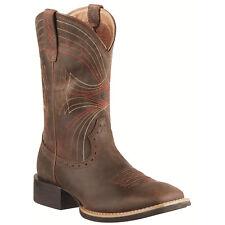 Ariat Western BOOTS Mens Cowboy Sport Toe 8 EE Dist Brown 10010963