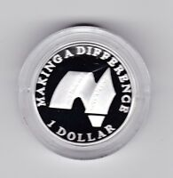 2003 SILVER Proof $1 Making A Difference Coin Volunteers  ex Fine Silver Set