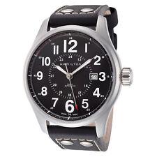 Hamilton Men's Khaki Field H70615733 44mm Black Dial Leather Automatic Watch