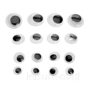 100Pcs Wiggly Googly Doll Toy Animal Eyes Sew On Shank Back Sewing Crafts DIY