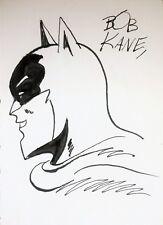 BOB KANE ORIGINAL HAND  DRAWN AND SIGNED * BATMAN * MARKER ON PAPER SKETCH W/COA