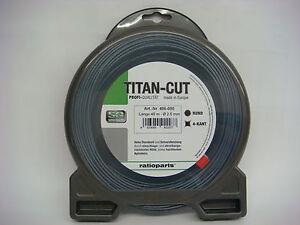 Mähfaden Titan Cut wie Duoline Faden rund 3,0 mm x 28 m für alle Motorsensen