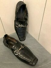 Authentic CESARE PACIOTTI  men black eel  leather shoes size IT 41 Made in Italy