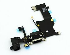 DOCK CONNECTOR iPhone 5 BLACK Lightning Audio Jack Flex Cable Socket NIP