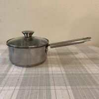 Wolfgang Puck Bistro Collection 1 1/2 Qt Sauce Pan & Glass Lid 18-10