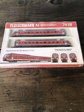 Fleischmann Piccolo 7418 Diesel Rail car Set N Scale