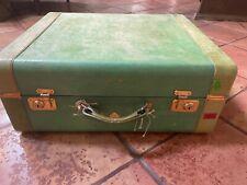 vintage suitcase Jewel Tone by Spelrein travel luggage green