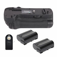 Battery Grip for Nikon D500 + 2x EN-EL15 Batteries + Universal Remote Control