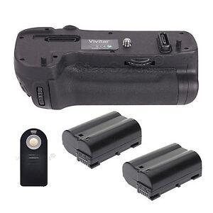 Battery Grip for Nikon D500 + 2x EN-EL15 Batteries + Universal Remote Control