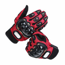 Red Motorcycle Gloves Rider Protective Windproof Armour Touch Screen Glove