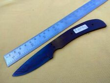 "7"" small hunting blue fire spring steel knife dagger skinner blank blade 5325"