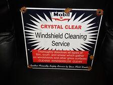 Antique style porcelain look mobil oil windshield dealer service sales sign