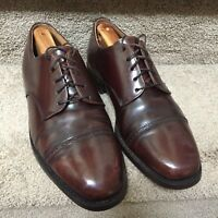 Johnston & Murphy Optima Captoe Oxford Men's Sz 9D Dress Shoes Burgundy Nice A19
