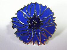 Bleuet insigne boutonnière émaillé monté sur pin's