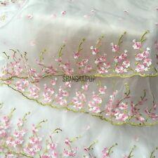 Chiffon Blumen Netz Spitze Organza Stoff Tüll Bilateral Blumenmuster Stickereien