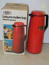 Vintage THERMOS Leisure Maker Jug Red Model No. 90Q FLASK UNUSED & BOXED