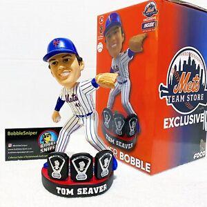 "TOM SEAVER New York Mets ""3X CY Young Winner"" Apple Base MLB Bobblehead"
