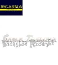 2908 TARGHETTA ALLUMINIO CROMATA COFANO POSTERIORE VESPA 125 GTR GRANTURISMO