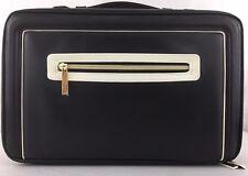 Este Lauder Vanity Case Makeup Cosmetics Carry Handle Zippered Soft Side Black