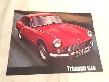 TRIUMPH GT6 1966 - catalogue dépliant brochure , prospekt catalog, no copy