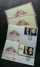 Malaysia Royal Visit Prince Of Wales & Duchess Cornwall 2017 (FDC pair) *signed