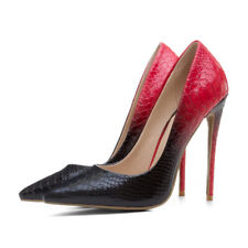sexy fashion snake-pattern women's shoes stiletto pumps nightclub party lady's