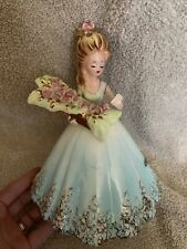 Josef Originals Girl The Courtship Large 8 Inch Blue Dress W/ Flowers