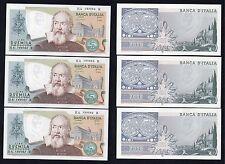 2  mila lire Galileo 1983  FDS Variante Colore (3 banconote consecutive)