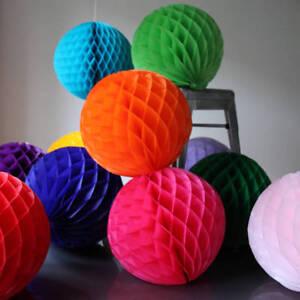 12 inch HoneyComb Tissue Paper Ball Lantern Poms Wedding Birthday Photo Shooting