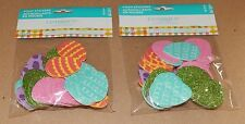"Easter Kids Crafts Felt Stickers 1 1/2"" Size 35pc 2pks Easter Eggs Glitter 109L"