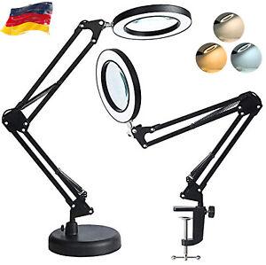 NEU LED Lupenleuchte Schreibtischlampe 8 Dioptrien mit 3 Typ Farblicht Lupenlamp