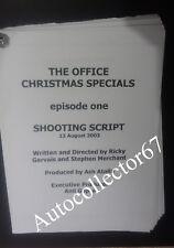 Original RICKY GERVAIS The Office TV SCRIPT Stephen Merchant Christmas Special